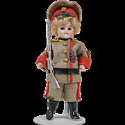 All Original All Bisque Soldier Boy - 3.5 Inches