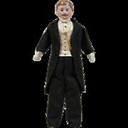 Fine Quality All Original Dollhouse Gentleman - 6.75 Inches