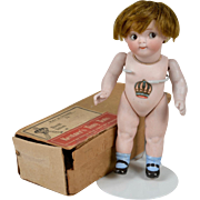 "Kestner ""Tiny Tot"" All Bisque 189  Googly with Original Box - 6 Inches"