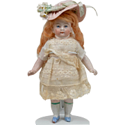 All Bisque Child with Painted Eyes - 6 Inches