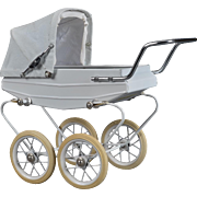French Doucet Pram Baby Carriage with Hood and Cover