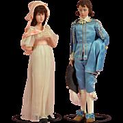 "Important Pair of 12"" Dorothy Heizer Art Dolls - Pinkie & Blue Boy"