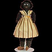 Charming Early Folk Art Doll - 18 Inches Tall
