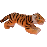Steiff Running Tiger - 8 Inches Long