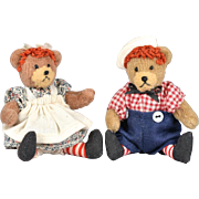 Tiny Raggedy Ann & Andy Teddy Bears