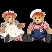 Tiny Raggedy Ann & Andy Teddy Bears
