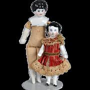 Two Tiny German China Dolls