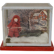 Hertwig All Bisque Doll in  Winter Scene