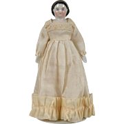 Tiny China Lady Doll with Unusual Hairstyle - 4 Inch