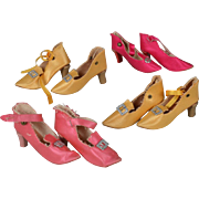 Four Pairs of Boudoir Doll Shoes