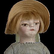 American Folk Art Painted Cloth Doll - 12.5 Inch