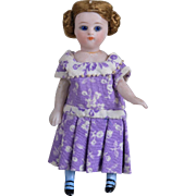 All Bisque Mignonette with Blue Stockings - 4 Inches