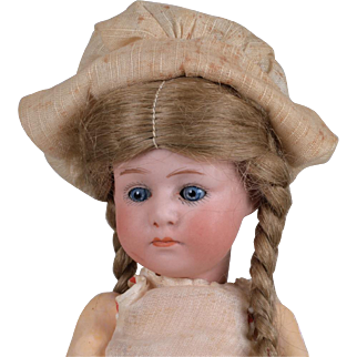 Tiny Adorable Heubach 7246 Pouty Character Doll - 7.25 Inch