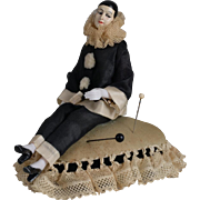 German Pierrot Half Doll Pin Cushion