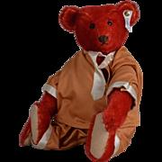 Adorable Red Steiff Replica Teddy Bear