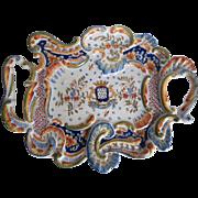Antique Desvres Handled Platter