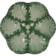 Antique Majolica Seaweeds Oyster Plate Saint Clement