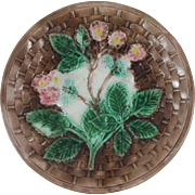 Antique Majolica Blackberries Plate