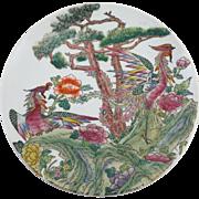"Large Chinese Porcelain Phoenix Platter 10"""