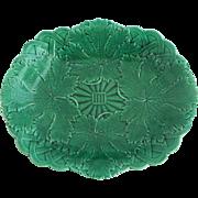 19th Green Majolica Platter Wedgwood