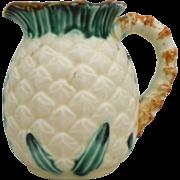 Majolica Pineapple Pitcher C.1900