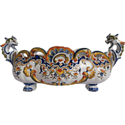 Large Desvres Faience Jardiniere C.1890