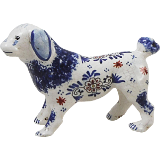 French Faience Dog Desvres