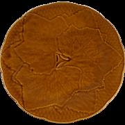Majolica Leaves Plate Gien