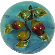 Antique French Majolica Pear Platter