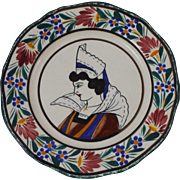 French Faience Plate Quimper
