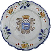Antique French Coat-of-Arms Plate