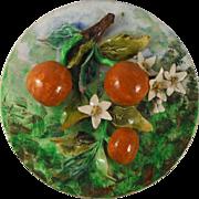 Antique Majolica Oranges Wall Platter