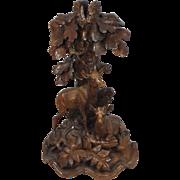 Antique Black Forest Candelstick
