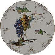 Antique Villeroy and Boch Grapes Plate