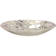Hand-Carved and Hand-Polished Rock Crystal Oval Bowl