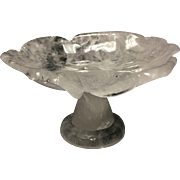 Hand-Carved and Hand-Polished Rock Crystal Floral Bowl