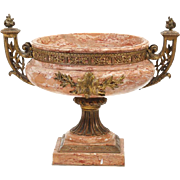 19th Century Italian Gilt Bronze Marble Urn
