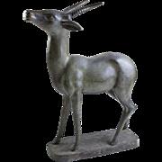 19th Century Large Bronze Deer Sculpture
