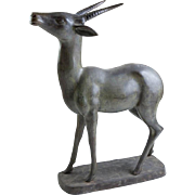 19th Century Large Bronze Deer Sculpture