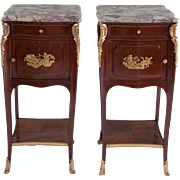 Pair of Side Tables Signed Haentges Freres, 19th Century