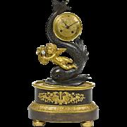 19th Century French Bronze Figural Clock