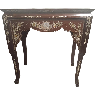 Fine Chinese Altar Table with Mother-of-Pearl Inlaid