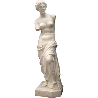 Italian Neoclassical Carved White Marble Statue of Venus, 19th Century