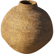 Pima Coiled Gap Stitch Olla Early to Mid Century Southwestern Native American Basket