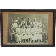 Decorator Turn of Century Photograph 'Study of Graduation Day'