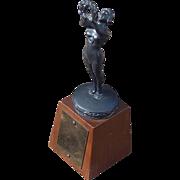 Beautiful 1920 Art Deco Vintage Figural Women's Swimming Trophy