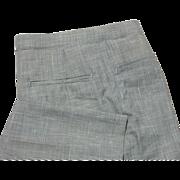 "Black & White Herringbone Vintage Jaymar Sansabelt Pants Men's 34"" x 31"" - Red Tag Sale Item"