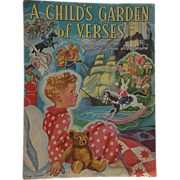 1939 A Child's Garden of Verses by Robert Louis Stevenson, Merrill Publishing Company, Illustrations by George Trimmer