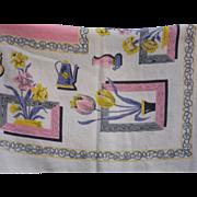Vintage Cotton Linen Table Cloth