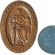 Historical 1908 American Woman's League Founders Button Pin by The Greenduck Company of Chicago